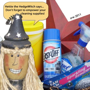 Hettie the HedgeWitch and cleaning products