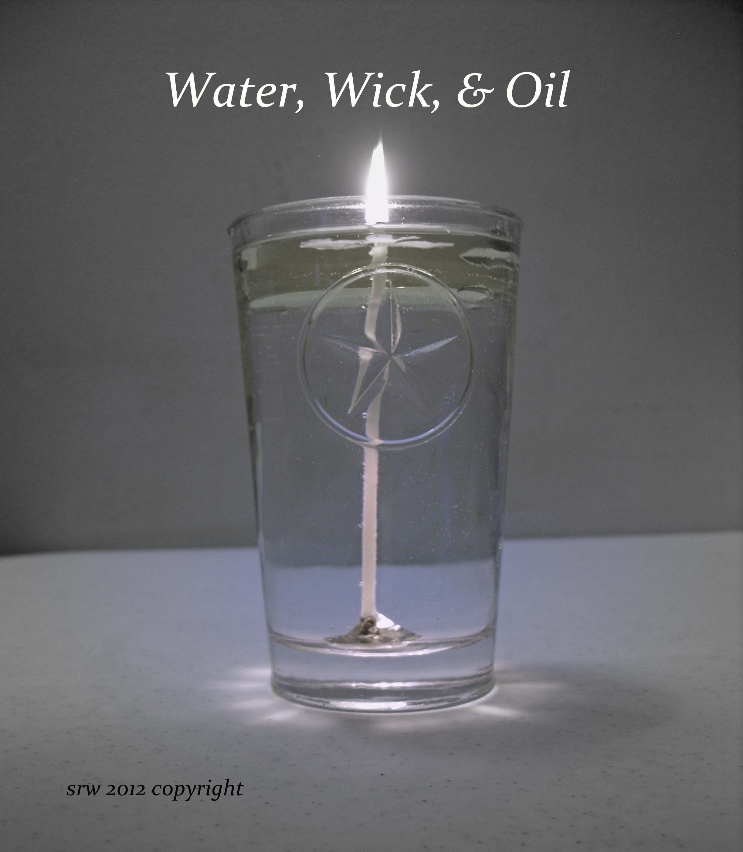 Water wick oil how to make your own braucherei spirit candle from blessed water and cooking - Unknown uses for vegetable oil ...
