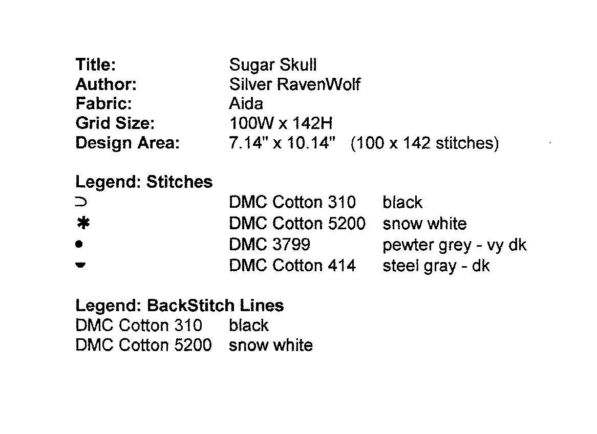 Cross Stitch Silver Ravenwolf