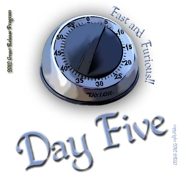 Today you will need a kitchen timer or stop watch.