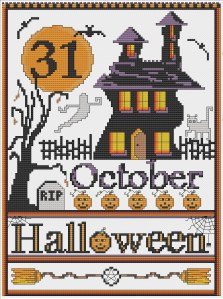 Halloween pattern can be found in Silver's Etsy Store at http://www.crowcrossroads.etsy.com