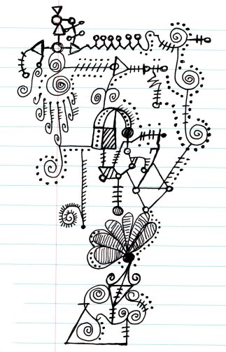 Doodling on paper isn't silly -- it is actually a way to channel thoughts onto a piece of paper.  Have you ever been on a long phone conversation where you begin drawing on a scrap of paper?