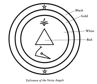 Sigil for seeking help from the Vesta Angels from my book -- Angels, Companions in Magick