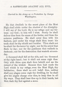 Himmelsbrief Letter of Protection thought to be carried by George Washington.
