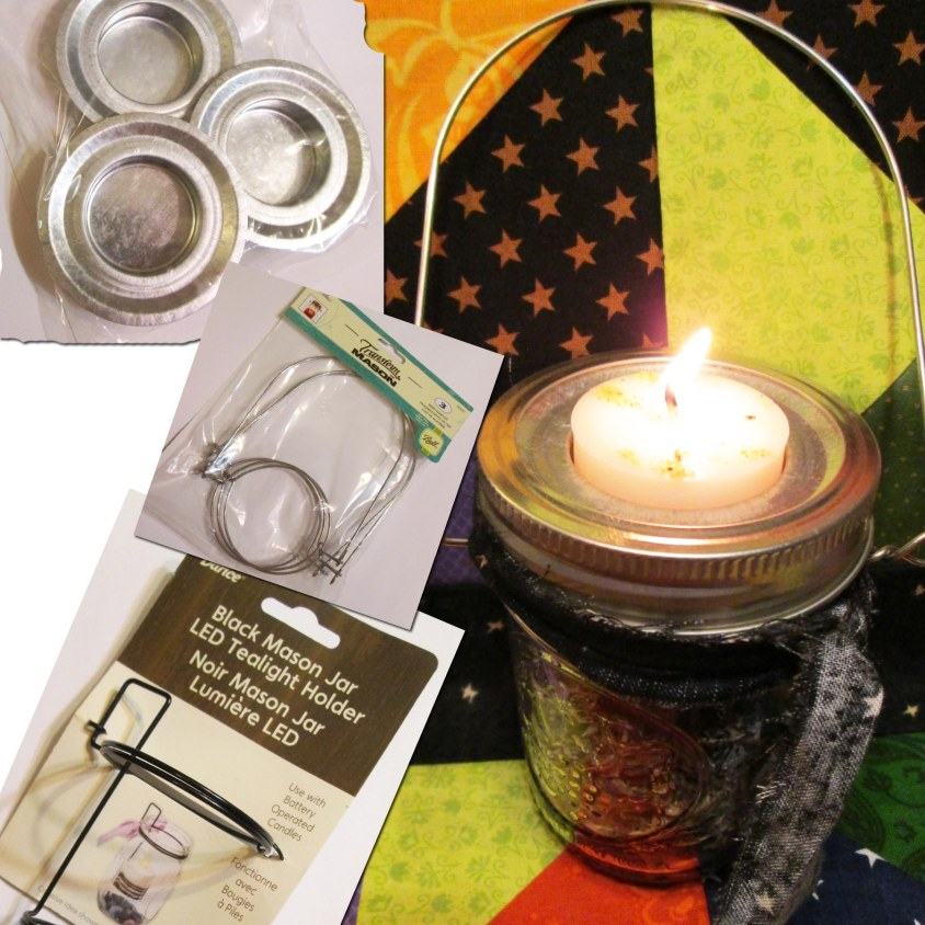 New products for Mason Jars include handles so you can hang the jars, lids designed to hold tea candles, and a product that allows you to suspend a tea candle in a jar (perfect for water magick).