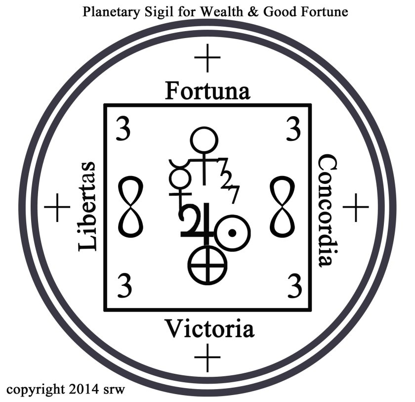 Planetary Sigil for Wealth and Good Fortune